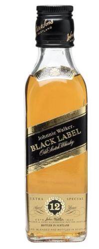 Johnnie Walker Black Label 50 ML เหล้า whiskey ยกลัง 12 ขวด 1500 บาท (แพ็ค 12 ขวด)