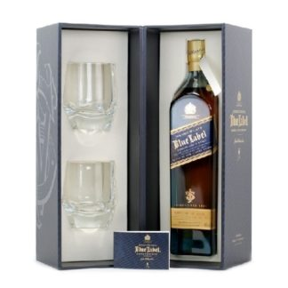 blue with glasses 750 ML เหล้า whiskey