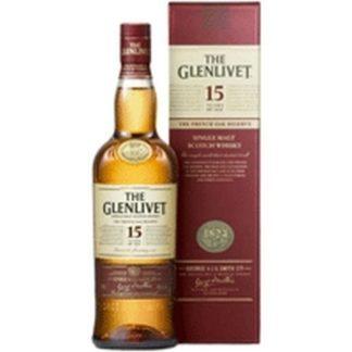 glenlivet 15 years 700 ML ซิงเกิ้ลมอลต์ single malt ยกลัง 12 ขวด 26500 บาท (40%)