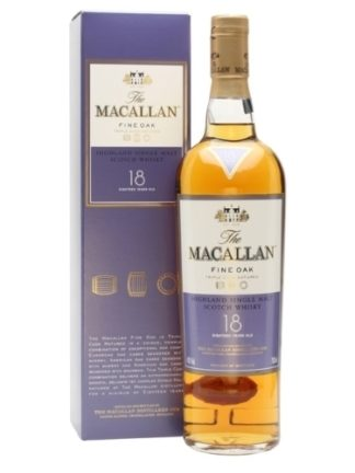 macallan 18 years old fine oak 700 ML ซิงเกิ้ลมอลต์ single malt ยกลัง 6 ขวด 48000 บาท